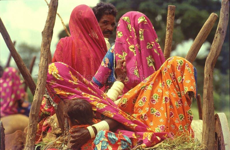 Gypsies of Indialambadis going to their village fair royalty free stock photos
