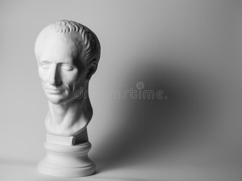 Gypsum head of Caesar stock illustration