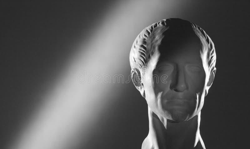 Gypsum head of Caesar stock photo