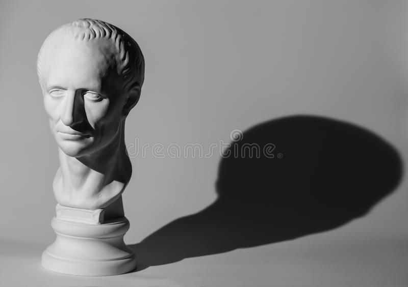 Gypsum head of Caesar royalty free stock photography