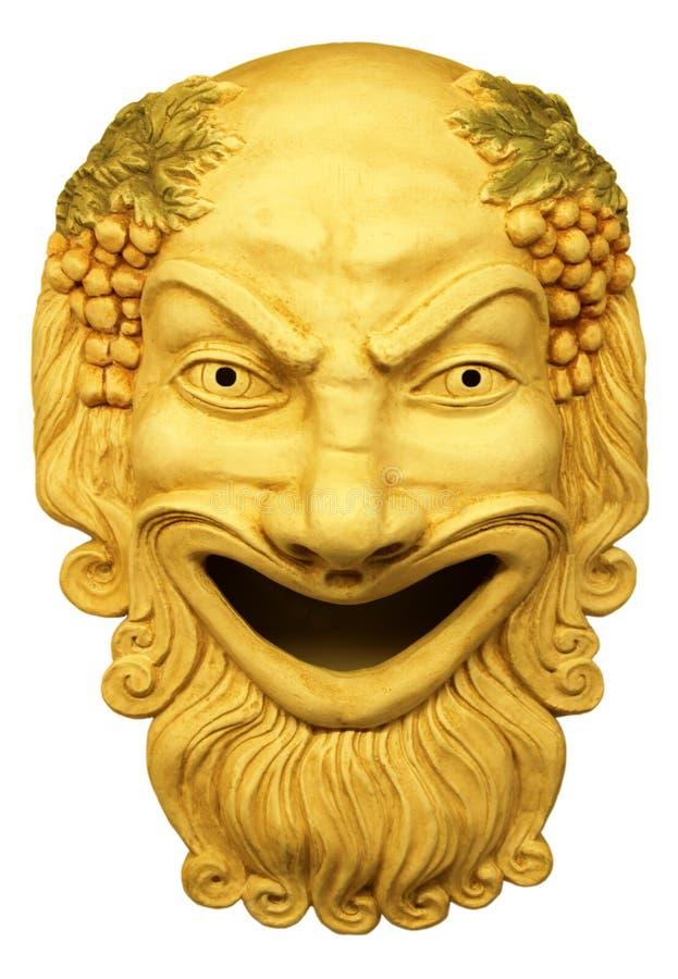Gypsum theatrical mask. Gypsum theatrical mask Roman times vector illustration