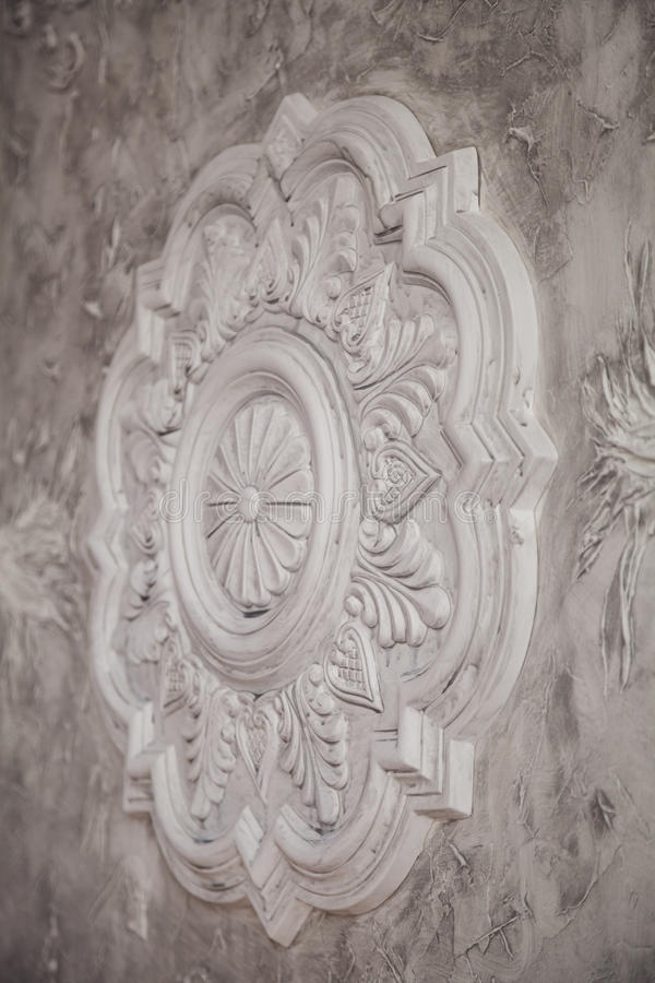 Gypsum tracery art texture with handmade details.  royalty free stock images