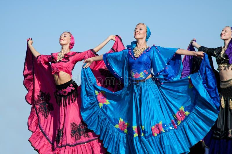Gypsy dance stock photography