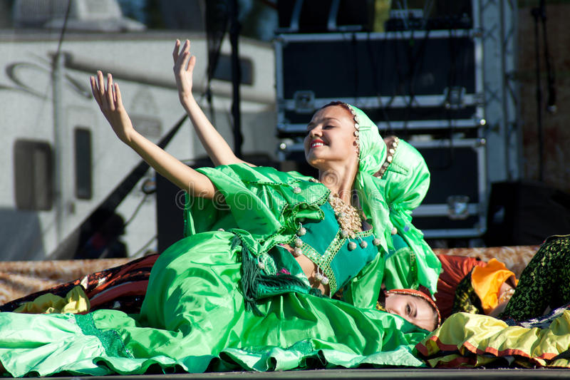 Gypsy dance stock images