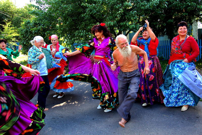 Gypsy dance royalty free stock photo