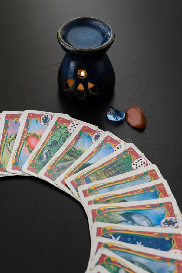 Gypsy deck used for spiritual guidance. royalty free stock image
