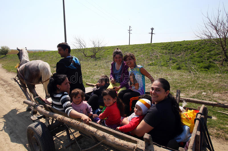 Gypsy family stock images
