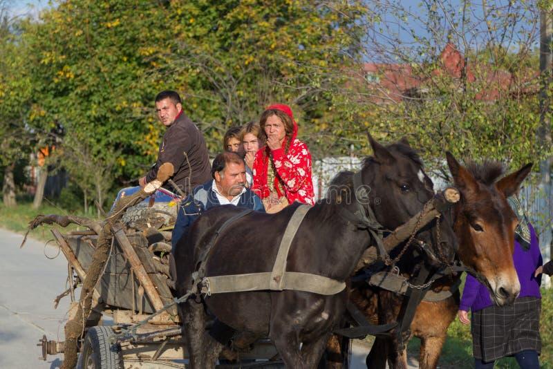 Gypsy family stock photography