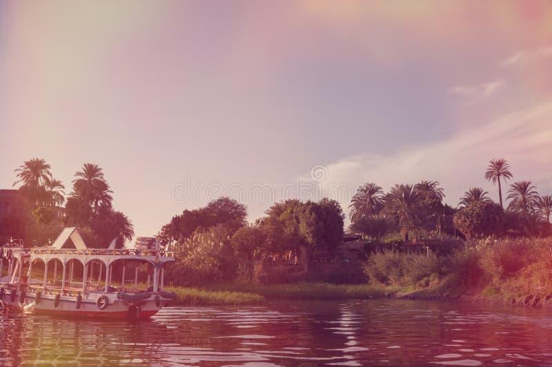?gypte Bateau chez le Nil ? Louxor photos libres de droits
