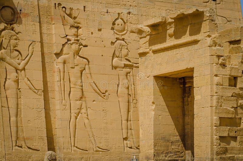 ?gypte Temple de Philae, temple d'ISIS photo stock