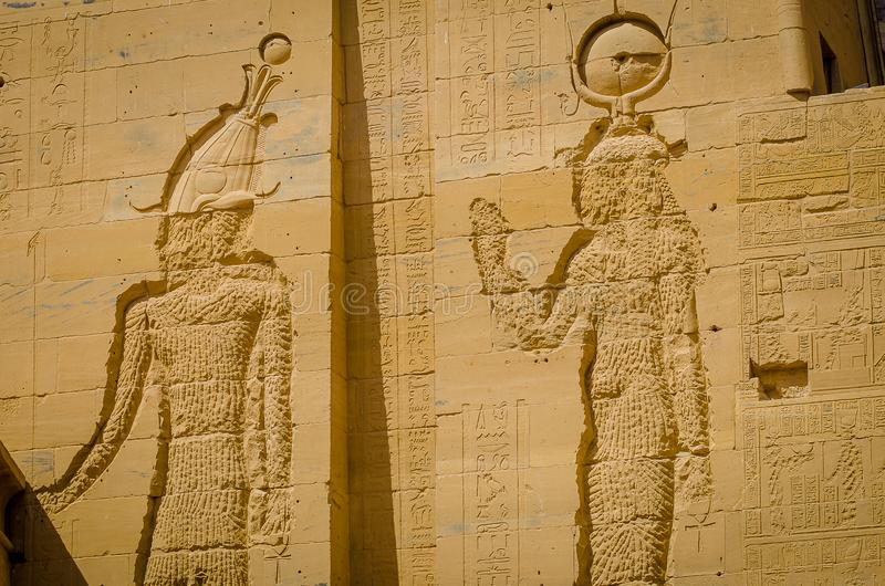 ?gypte Temple de Philae, temple d'ISIS photographie stock