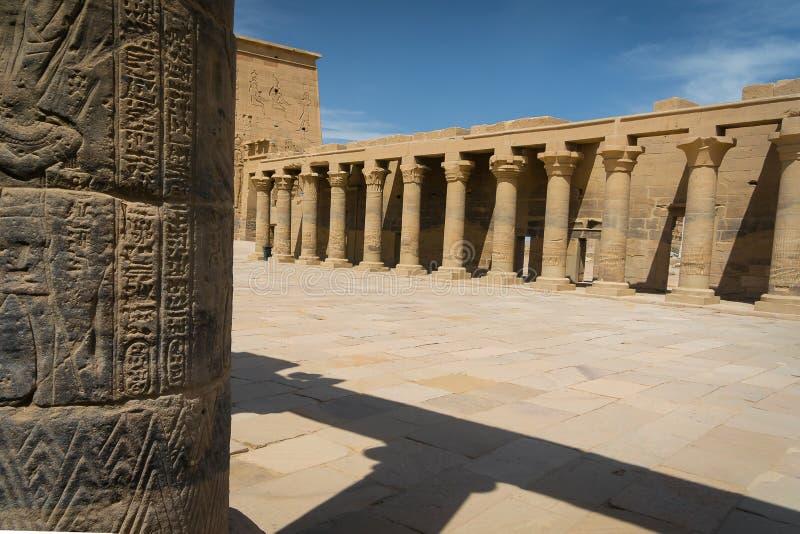 ?gypte Temple de Philae, temple d'ISIS photo libre de droits