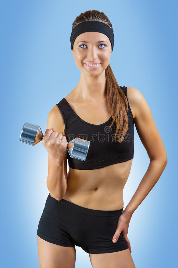 Download A gyrl training stock image. Image of muscle, camera - 28776025