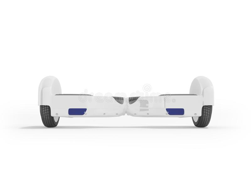 Gyroboard white front 3d render on white background. Gyroboard white front 3d render on white royalty free illustration