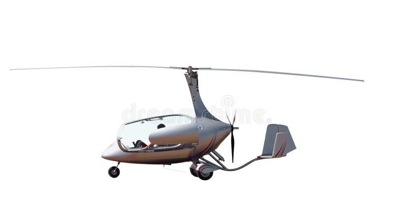 Gyrocopter com dossel aberto fotos de stock