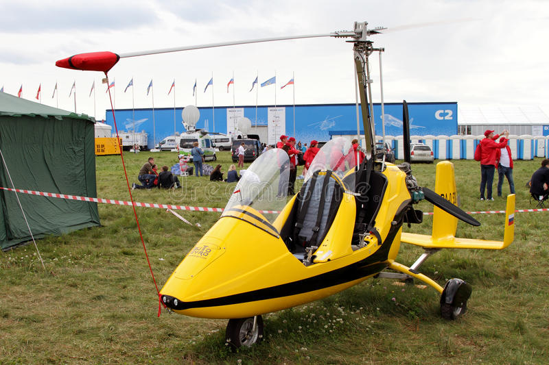 Gyroplane MTOsport 2010 at the International Aviation and Space stock photography