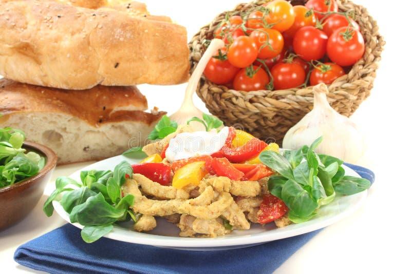 Download Gyros stock image. Image of tzatziki, cook, dish, corn - 17943875