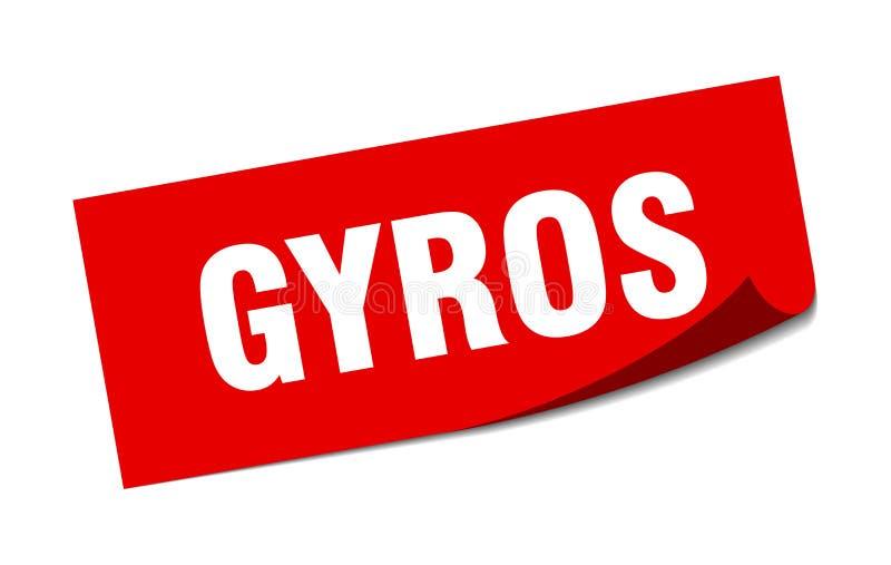 gyros majcher royalty ilustracja