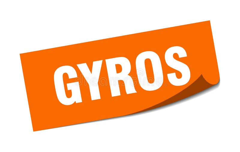gyros majcher ilustracja wektor