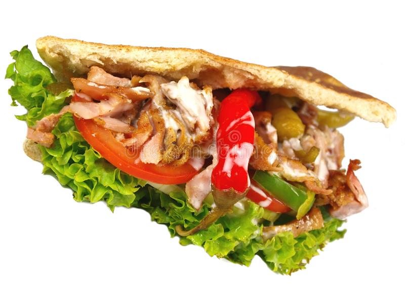 Gyros pita royalty free stock images