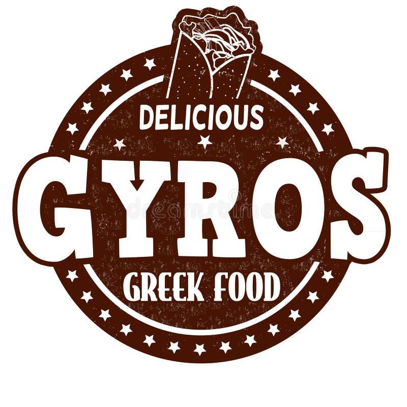 Gyros znaczek ilustracja wektor