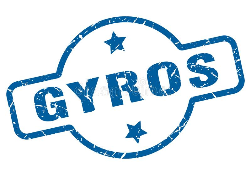 Gyros znaczek ilustracji