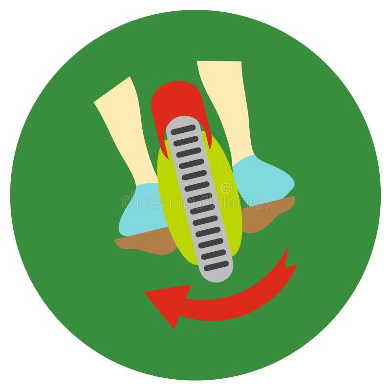 gyroscope Vector ícones em um estilo liso em um fundo da estrada da cor ilustração do vetor