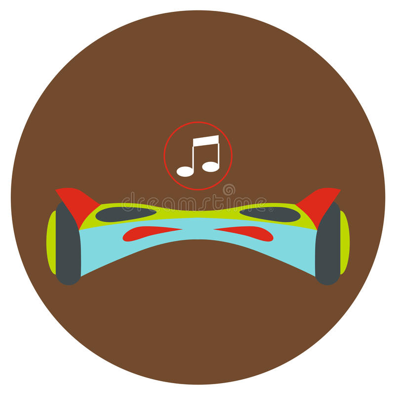 gyroscope Vector ícones em um estilo liso em um fundo da estrada da cor ilustração stock