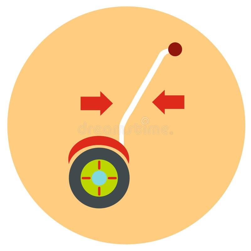 gyroscope Vector ícones em um estilo liso em um fundo da estrada da cor ilustração royalty free