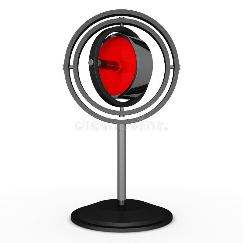 Gyroskop stock illustrationer