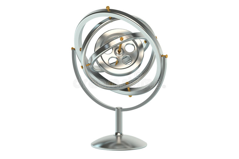 Gyroskop vektor illustrationer