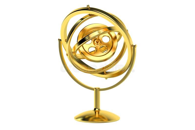 gyroskop 3D vektor illustrationer
