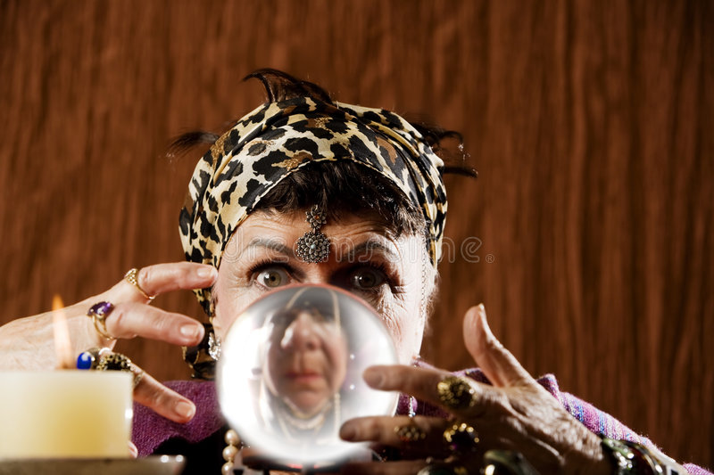Download Gyspy Seen In A Crystal Ball Stock Image - Image: 6295757