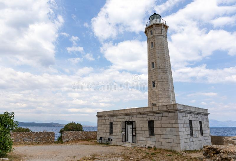 Gytheio latarnia morska, Peloponnese, Grecja obrazy royalty free