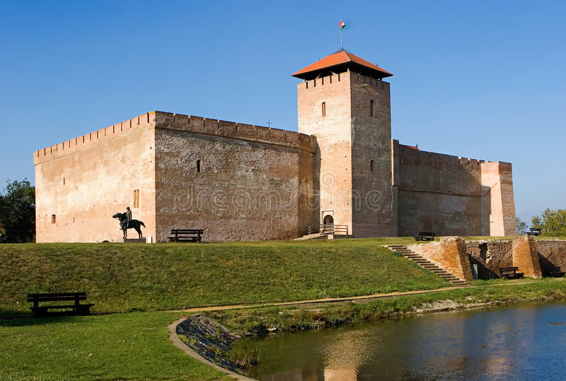 Gyula castle royalty free stock images