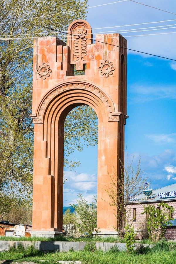 Gyumri, Armenië - Mei 9, 2017 Alexandropolmonument in post sovjetrepubliek royalty-vrije stock fotografie