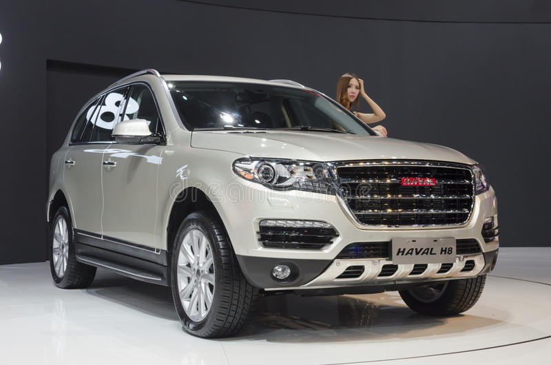 2013 GZ AUTOSHOW-HAVAL H8 SUV stock images