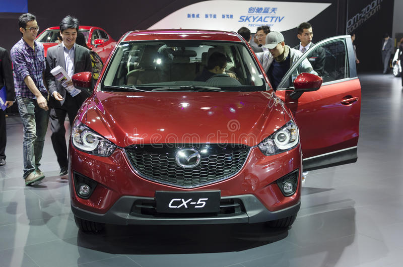 2013 GZ AUTOSHOW-Mazda SUV CX-5. Mazda SUV CX-5, in The 11th China (Guangzhou) International Automobile Exhibition, in China Import and Export Fair Complex stock photos