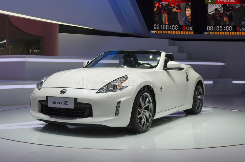 2013 GZ AUTOSHOW-Nissan 370Z roadster. Nissan 370Z roadster in The 11th China (Guangzhou) International Automobile Exhibition, in China Import and Export Fair stock photo