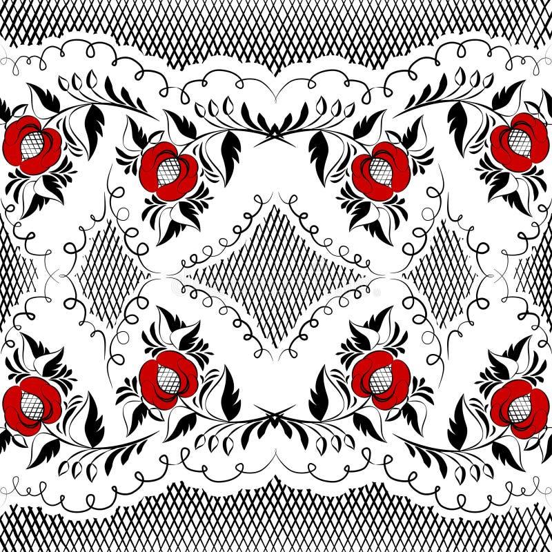 Gzhel noir illustration libre de droits