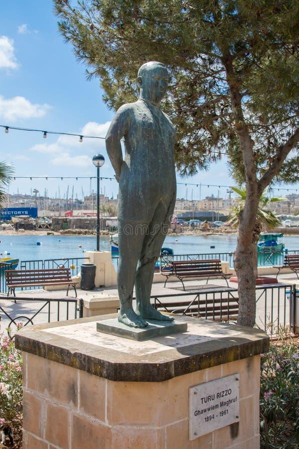Gzira, Malta - May 9, 2017: Memorial to Turu Rizzo. Gzira, Malta - May 9, 2017: Memorial to Turu Rizzo stock image