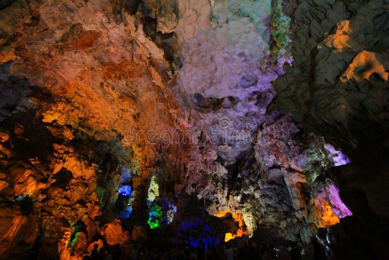 Thien Cung Grotto, Ha Long Bay, Vietnam UNESCO World Heritage stock image