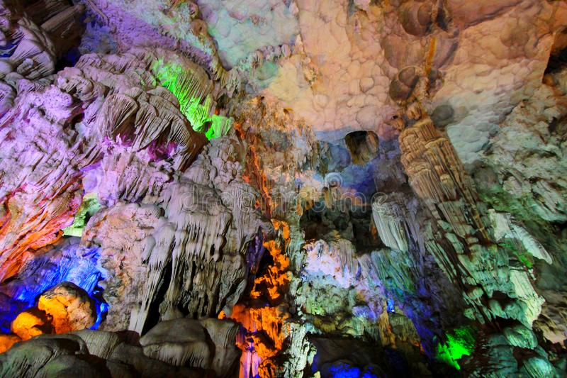 Thien Cung Grotto, Ha Long Bay, Vietnam UNESCO World Heritage royalty free stock photo