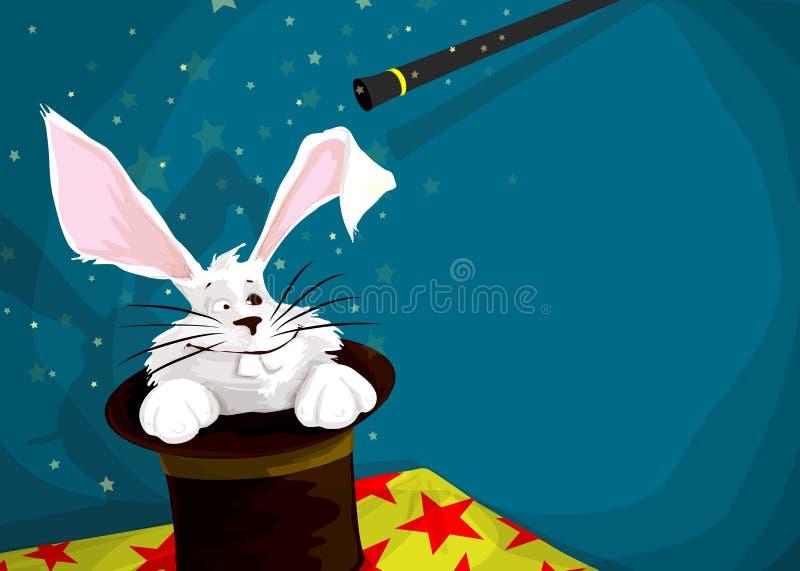 Há um coelho em meu chapéu! ilustração stock