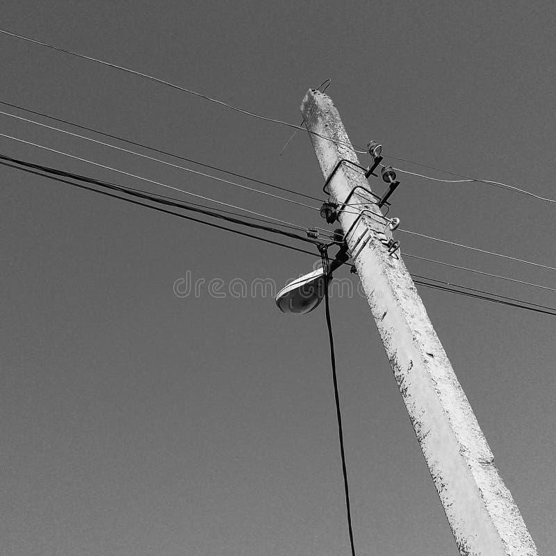 Há uma tocha no efeito preto e branco Olha muito triste fotografia de stock royalty free