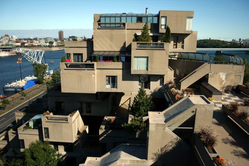 Hábitat 67 en Montreal, Canadá imágenes de archivo libres de regalías