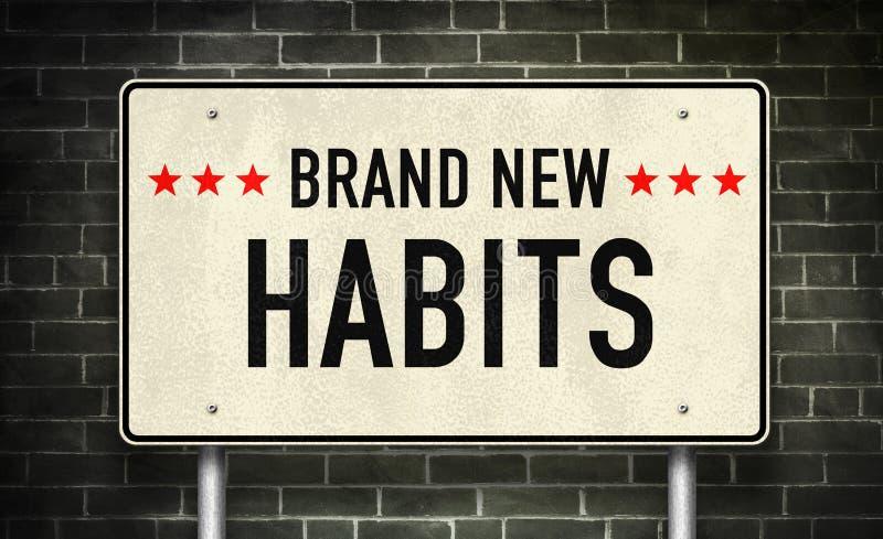 Hábitos brandnew fotografia de stock royalty free