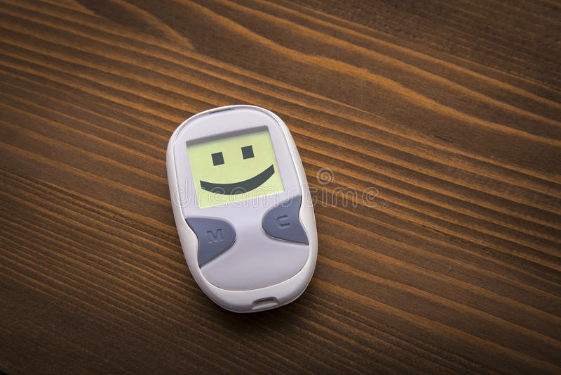 Hábitos positivos da saúde que lutam o diabetes fotografia de stock
