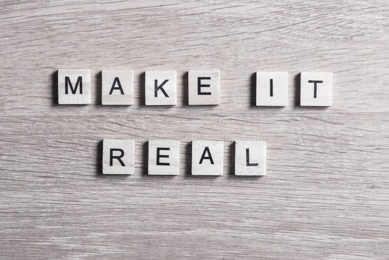 Hágale la motivación real imagen de archivo libre de regalías