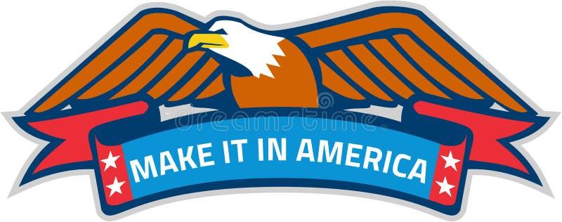 Hágalo en la bandera Eagle Retro de América libre illustration